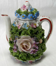 Elfinware teapot with lid colorfully decorated made in pre-war Germany