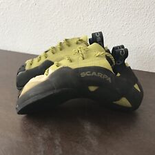 Scarpa Mago Climbing Bouldering Shoe Size 6 mens 7 Women's Bright Lime 70011