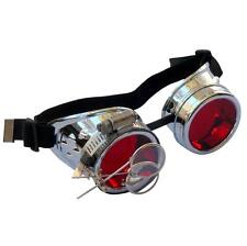 Steampunk goggles Zombie welding diesel punk biker goth cosplay rave lens CS R