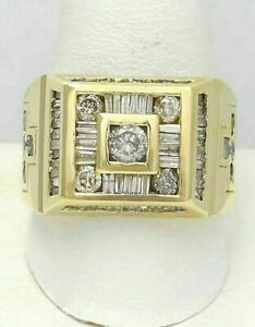 SPECIAL OCCASION ENGAGEMENT HALO RING 14K YELLOW GOLD FILLED 1.12 CT DIAMOND