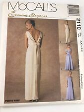 VINTAGE MCCALL'S #2110 PATTERN FOR MISSES SIZES AX (4, 6, 8) LINED EVENING GOWN