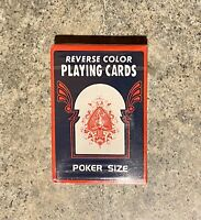 Vintage Reverse Color Playing Cards - Brand New Sealed