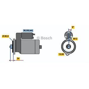 Bosch Starter Motor 0 001 125 517 fits Volkswagen LT 28-46 2.5 TDI (2D) 80kw