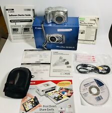 Canon Powershot SX100 IS Silver Digital Camera 8.0 MP Manuals CD's 2GB Mem card