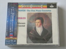 Backhaus Beethoven Five Piano Concertos Overtures 3 SACD TOWER RECORDS JAPAN