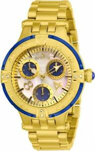 Invicta Subaqua 26143 Women's Round Analog Oyster Crystal Day Date Blue Watch