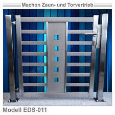 EDS 011 - EDELSTAHL-Pforte, Tür, Zaun, Gartentor, Eisentor, Tor
