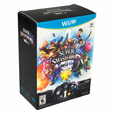 Nintendo Wii U Super Smash Bros Bundle Game Controller Adapter Open Box