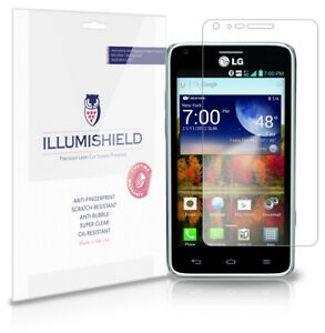 iLLumiShield Phone Screen Protector w Anti-Bubble/Print 3x for LG Mach LS860