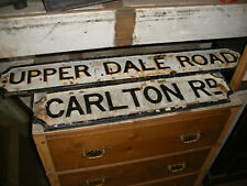 Reclaimed Victorian cast iron road signs