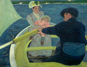 Mary Stevenson Cassatt The Boating Party Poster Reproduction Giclee Canvas Print