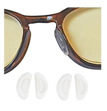 AM Landen 1mm Transparent Ergonomic Design Anti Skid D-Shape Stick-on Nose Pads