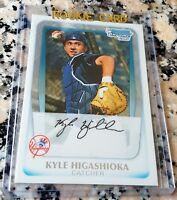 KYLE HIGASHIOKA 2011 Bowman Chrome Draft Pick Rookie Card RC LOT Yankees $ HOT $
