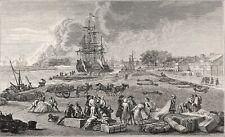PORT de ROCHEFORT: MAGASIN des COLONIES (d'après Joseph Vernet) - Planche 19e