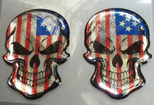 Harley Davidson® V-Rod Dyna Softail Evo Twin Cam 3D Doming Decal 2er Set Skull