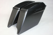 """Charcoal pearl colo 4.5""""  Extended saddlebags for Harley 2014-2017 Dural cutouts"""