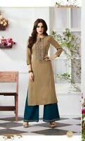 Indian Pakistani Designer Ready made Salwar Kameez Stitched Plazzo Shalwar Suit