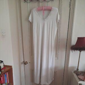 M & S Vintage Ivory Cotton Nightdress  Size 14 Long
