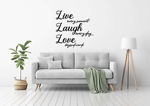 Family Wall Live Laugh Love Quote Vinyl Sticker Wall Art Home Mural Decal