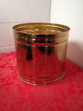 "Bristol Brass 11"" x 12"" Lion Head Polished Brass Fire Coal Bucket Tree Planter"
