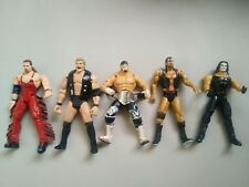 Wcw Wrestling Action Figures x 5 with accessories - Hogan Hall Nash Sting nWo