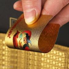 24K GOLD PLATED PLAYING CARDS FULL POKER DECK 99.9% PURE CHRISTMAS GIFT 2018