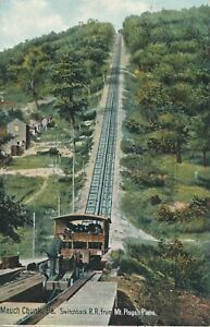MAUCH CHUNK PA – Switchback Railroad from Mt. Pisgah Plane - 1907
