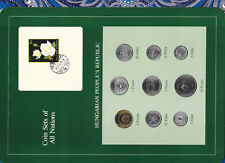 Coin Sets of All Nations Hungary w/card all coins 1978 UNC Rose stamp