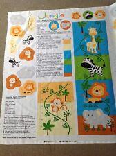 Print fabric(Growth chart-jungle)