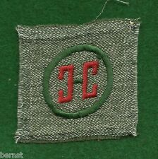 GIRL SCOUT BADGE -  FULL SQUARE GRAY GREEN - 1928-38 CRAFTSMAN