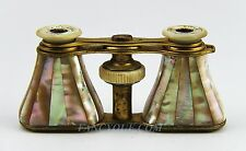 ANTIQUE FRENCH OPERA GLASSES UNUSUAL! WITH RAINBOW MOTHER OF PEARL # 75