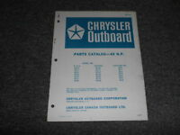 1967 Chrysler Outboard 45 HP Parts Catalog Manual OEM Factory