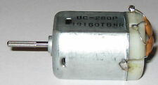 UC-280P 12VDC Electric Motor - Knurled Shaft - Filter Capacitor - Car DC Motor