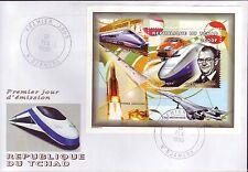 5245+ CONCORDE  + TGV 1er JOUR BLOC    TCHAD  1999  DENTELE