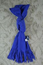 Old Navy Womens Polar Fleece Fringed Dark Purple Violet Scarf One Size New NWT