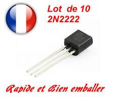 Lot de 10 Transistors NPN 2N2222 TO-92