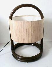 70s Temde Tischlampe Bambus Lampe Rattan modernist lamp Ingo Maurer era
