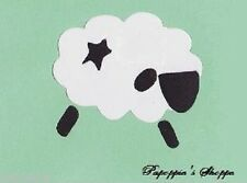 Stencil Primitive Sheep with Star Crafts Signs