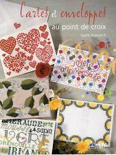 LIVRE Cartes et enveloppes au point de croix broderie Sophie Argouarc'h LTA DMC