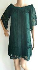 Women's Off Shoulder Lace Dress Size XL Dark green by Trixxi