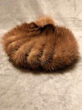 60s Vintage Gwenn Pennington Mink Beret Pom Top Beanie Style Hat *Free Shipping*
