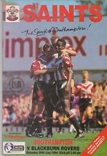 Programme / Programma Southampton v Blackburn Rovers 20-08-1994