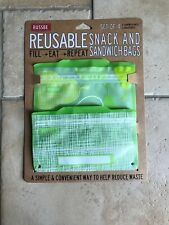 Russbe Reusable Snack And Sandwich Bags (4 Pack). Full Eat Repeat.