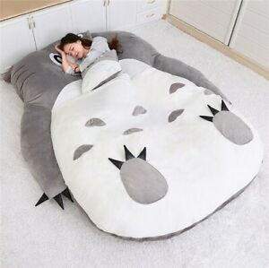 Gray Cat Tatami Sleeping Bed Sofa for Audlt Warm Cartoon Tatami Sleeping Bag