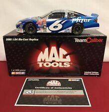 Mark Martin #6 Mac Tools Pfizer 1/3000 Ford Taurus Team Caliber 1:24 2001