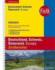 Falk Straßenatlas Deutschland, Schweiz, Österreich, Europa 2018/2019 1 : 300 000 (2017, Ringbuch)