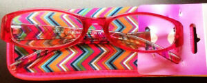 Foster Grant EZ Reader Rosita Red 2.75 Reading Glasses W/Soft Case. FREE Ship!