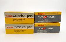 2 X KODAK TECHNICAL PAN B & W  & 2 X T400CN T-MAX 120 CAMERA FILM EXPIRED