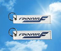 Finnair keychain luggage baggage tag