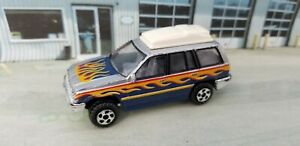 Unbranded Jeep Grand Cherokee 1/64 Die-cast SUV Silver 4x4 Toy Car Roof Cargo